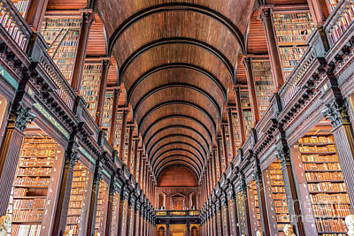 Dublin Wall Art - Photograph - Trinity College Library In Dublin by Delphimages Photo Creations