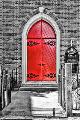 Photograph - Trinity Red Door by Sharon Popek