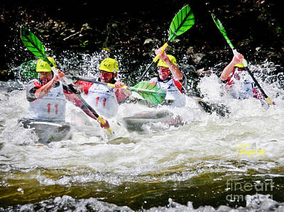 Photograph - Triple Crown Kayak Race by Tom Cameron