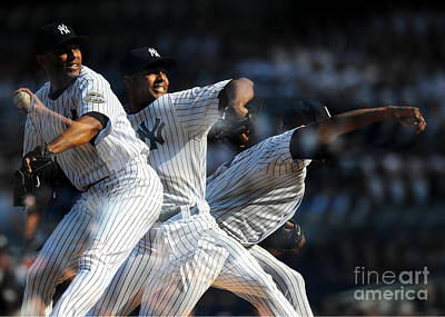 Photograph - Triple Exposure Of Mariano Rivera by New York Daily News Archive