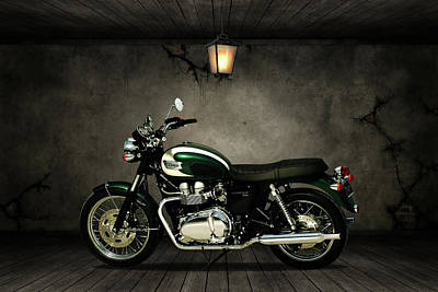 Mixed Media - Triumph Bonneville T100 Old Room by Smart Aviation