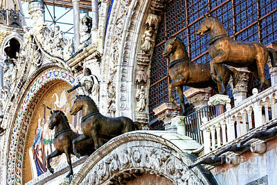 Photograph - Triumphal Quadriga At The Basilica Di San Marco Venice by John Rizzuto
