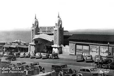 Photograph - Tropic Beach Sutro Bath San Francisco, Calif. Circa 1938 by California Views Archives Mr Pat Hathaway Archives