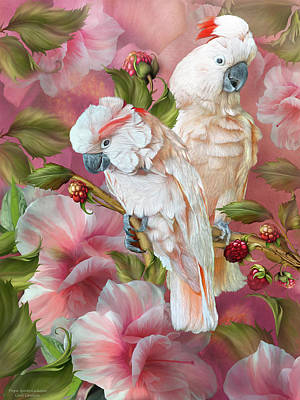 Mixed Media - Tropic Spirits - Cockatoos by Carol Cavalaris