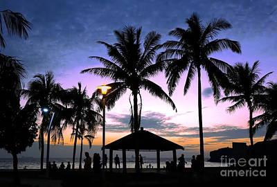 Photograph - Tropical Beach Scene After Sunset by Yali Shi