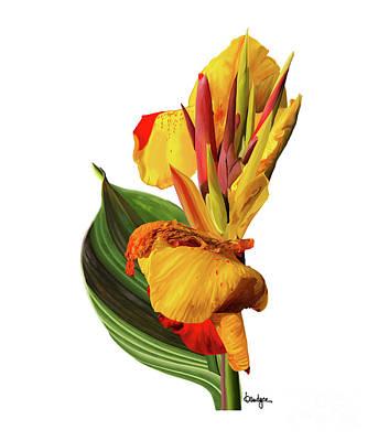 Digital Art - Tropical Bouquet-flower One by Kandyce Waltensperger