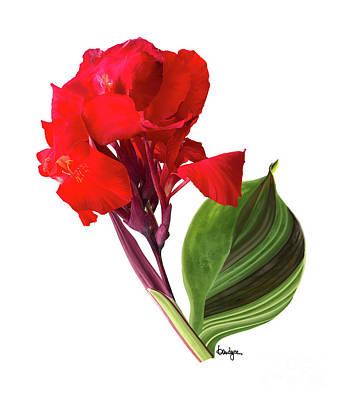 Digital Art - Tropical Bouquet-flower Three by Kandyce Waltensperger