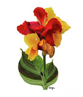Digital Art - Tropical Bouquet-flower Two by Kandyce Waltensperger