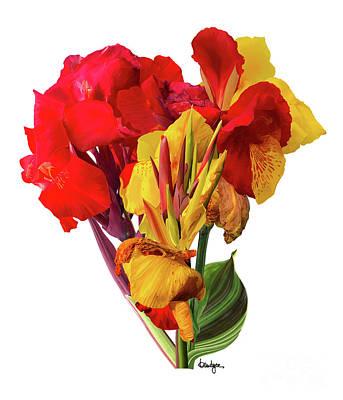 Digital Art - Tropical Bouquet by Kandyce Waltensperger