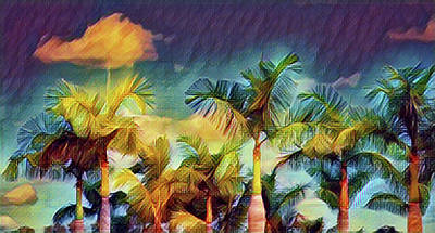 Digital Art - Tropical Breeze by Perry Correll