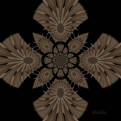 Digital Art - Tropical Fractal Visual Art by Sheila Mcdonald