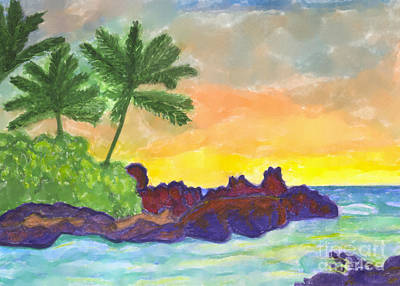 Painting - Tropical Island In The Ocean by Dobrotsvet Art