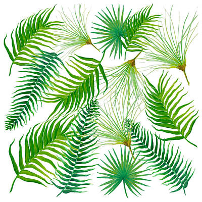 Painting - Tropical Leaves And Ferns by Jan Matson