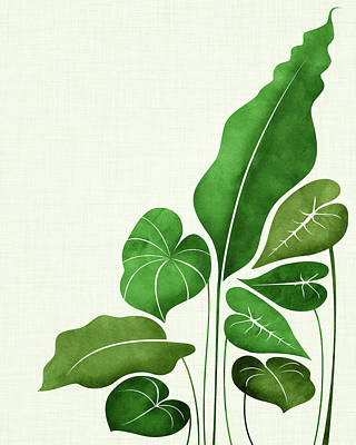 Kristian Gallagher Royalty-Free and Rights-Managed Images - Tropical Leaves by Kristian Gallagher