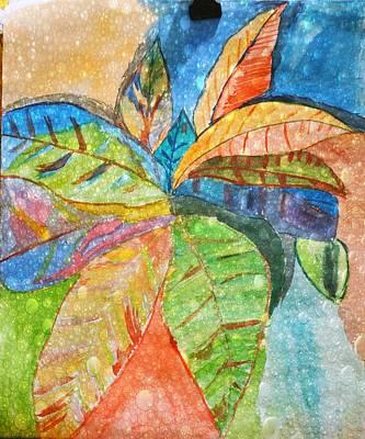 Cartoons Tees - Tropical leaves by Nilu Mishra