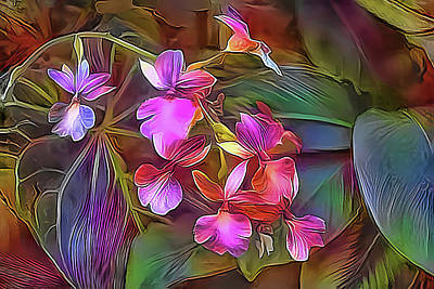 Photograph - Tropical Orchids by HH Photography of Florida