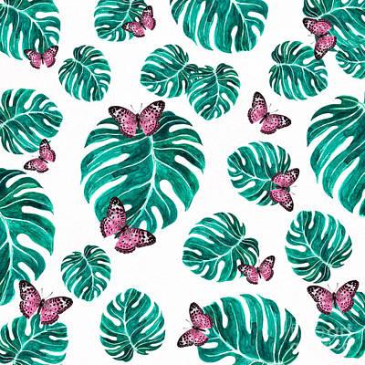 Digital Art - Tropical Pattern By Kaye Menner by Kaye Menner