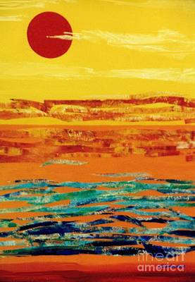 Painting - Tropical Sunset Collage by Jean Clarke