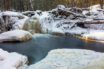 Photograph - Trout Brook Waterfall In Winter by Brian Hale
