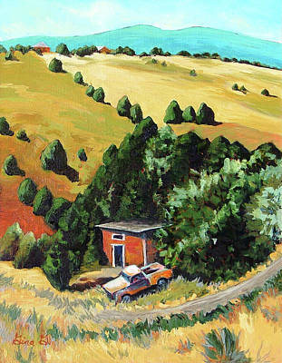 Painting - Truchas Hideaway by Gina Grundemann