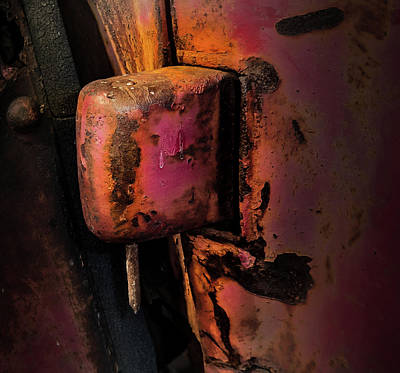 Photograph - Truck Hinge With Nail by Juan Contreras
