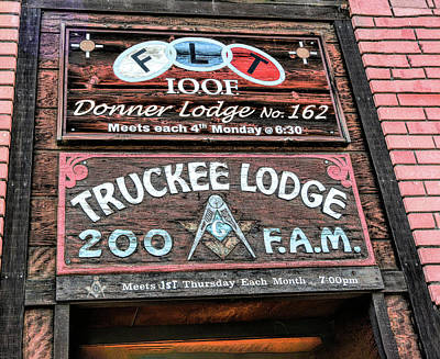 Digital Art - Truckee Masonic Lodge by Joe Lach