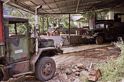 Photograph - Trucks And Coffee Farming Equipment In Panama by Tatiana Travelways