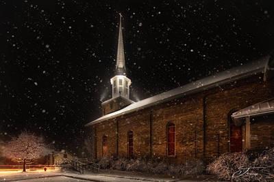 Wall Art - Photograph - True North Lowell Michigan United Methodist Church by J Thomas