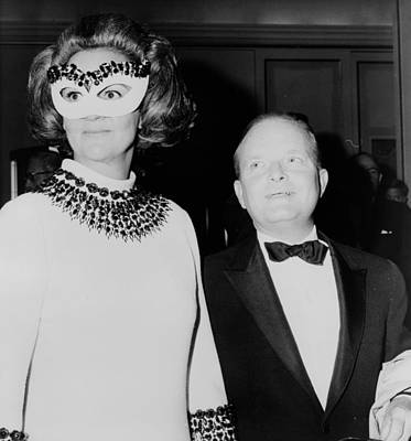 Photograph - Truman Capote And Katherine Graham, 1966 by Science Source