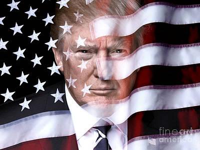 Digital Art - Trump America by John Lyes