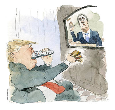 Painting - Trump Bites Remote by Barry Blitt