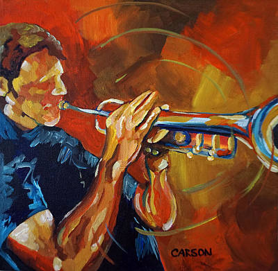 Painting - Trumpet Man by Susan Carson