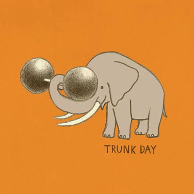 Drawing - Trunk Day by Eric Fan
