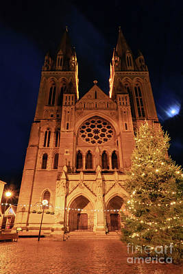 Photograph - Truro Cathedral At Christmas by Terri Waters