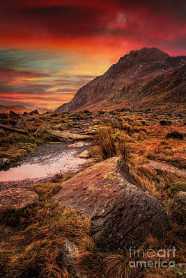 Photograph - Tryfan Mountain Sunrise by Adrian Evans