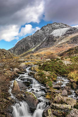 Photograph - Tryfan Mountain Winter Rapids by Adrian Evans
