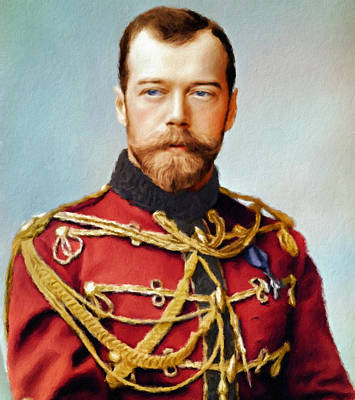 Painting - Tsar Nicholas II Of Russia by Vincent Monozlay