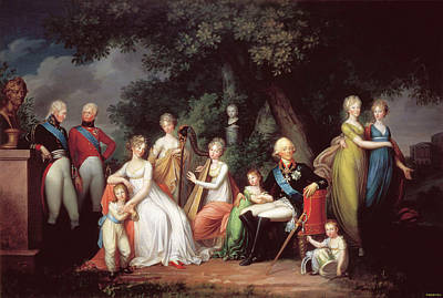 Painting - Tsar Paul I With Wife And Children In by Fine Art Images