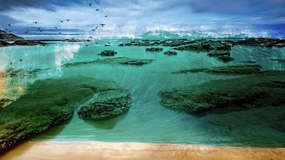 Mixed Media - Tsunami Warning by Clive Littin