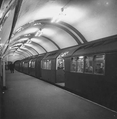 Photograph - Tube Train by Monty Fresco