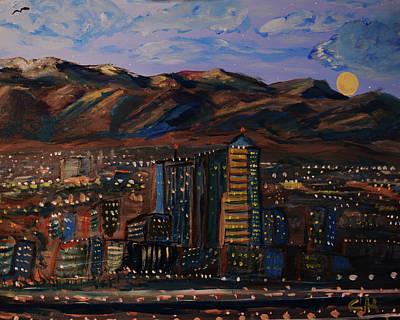 Tucson Moon Rise Impression Original