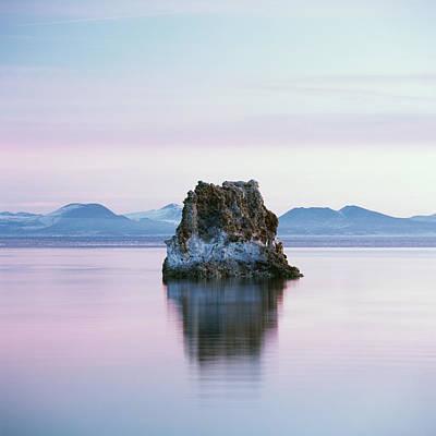 Photograph - Tufa Formation Reflected In Mono Lake by Micha Pawlitzki