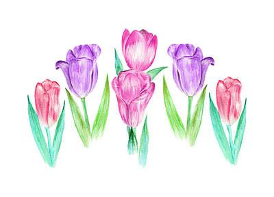Painting - Tulip Garden by Elizabeth Lock