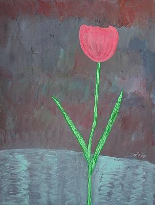 Painting - Tulip Original Painting by Sol Luckman