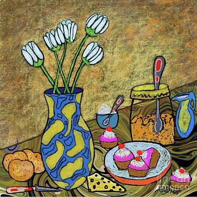 Digital Art - Tulips And Cupcakes by Caroline Street