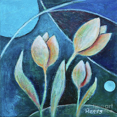Painting - Tulips By Night by Jutta Maria Pusl