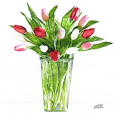 Painting - Tulips by CAC Graphics