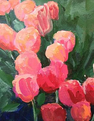 Painting - Tulips by Sally Bullers