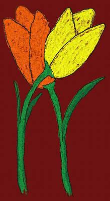 Digital Art - Tulpis by Jean Evans