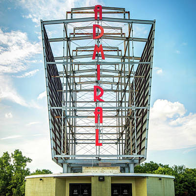 Photograph - Tulsa Admiral Twin Drive-in - Oklahoma - Square Format by Gregory Ballos
